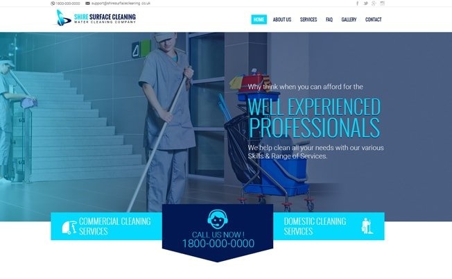 Shire Surface Cleaning Website Design