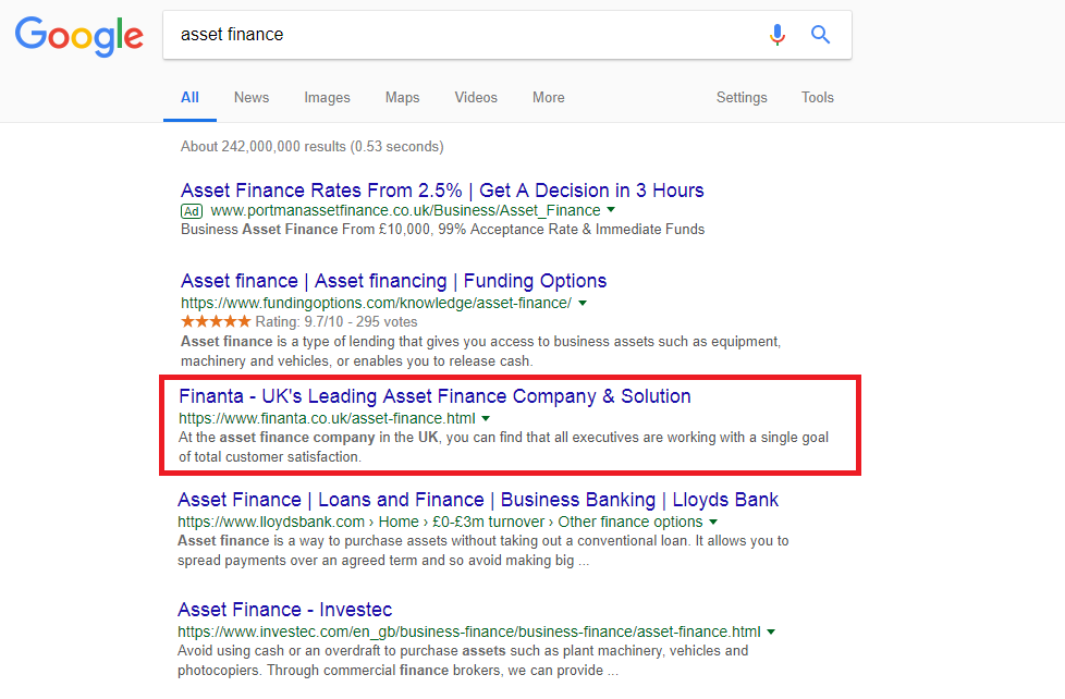 SEO for financial advisers