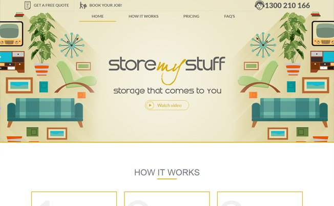 Store My Stuff Website Design